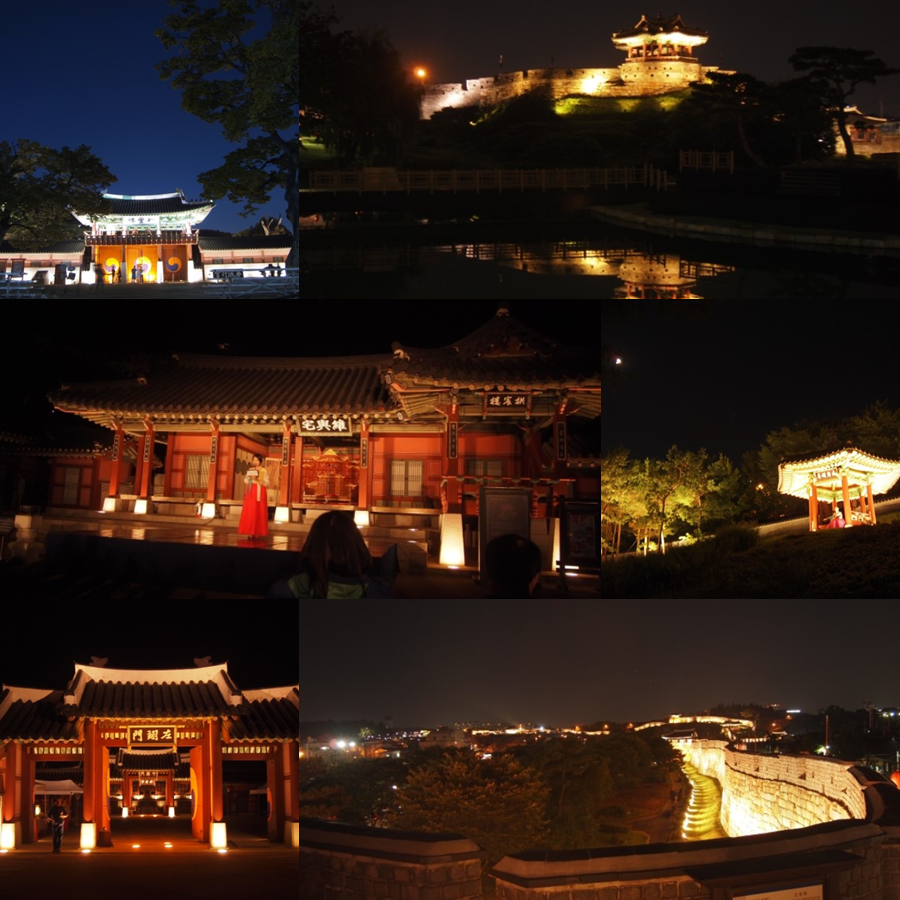 WalkinginthemoonlightatSuwonHwaseongFortress1